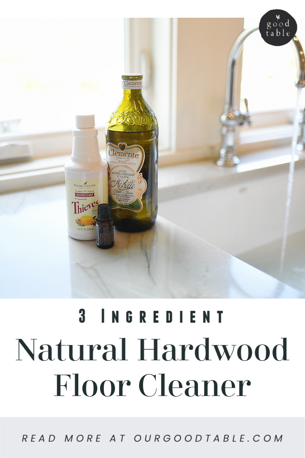 You only need 3 Ingredients to clean your hardwood floors.