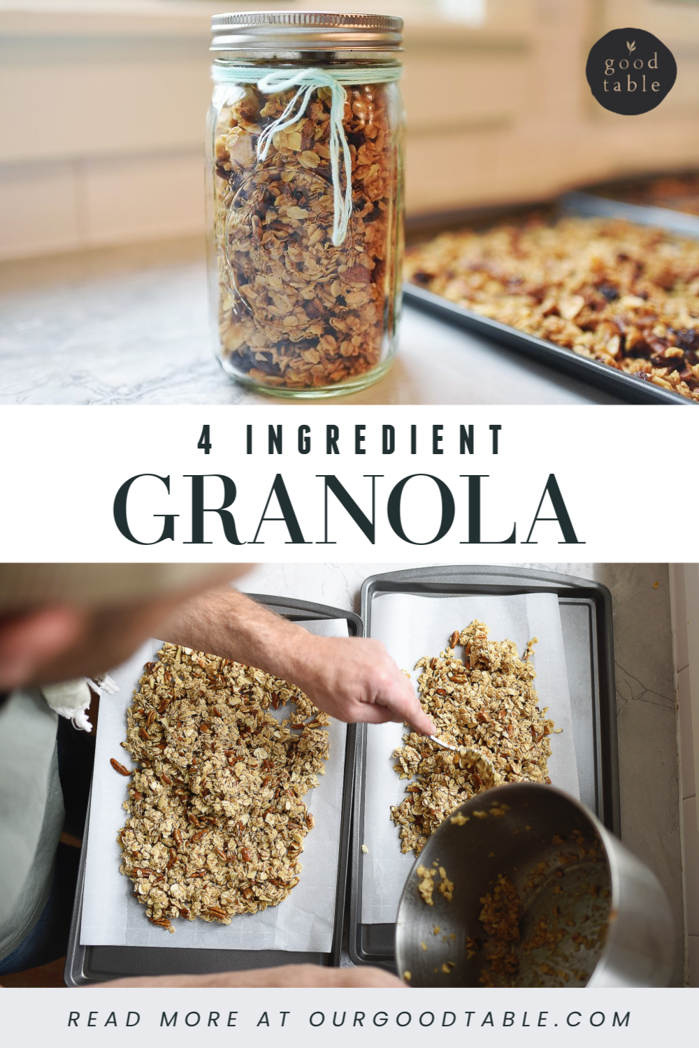4 Ingredient Granola using your pantry staples.