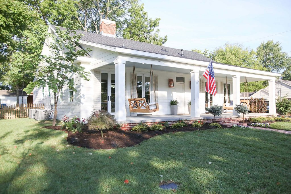 Craftsman to Creole Cottage Exterior on HGTV Fixer to Fabulous.