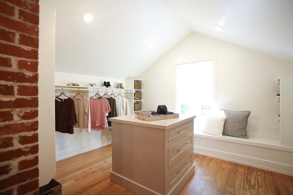 Master Closet Renovation on HGTV Fixer to Fabulous.