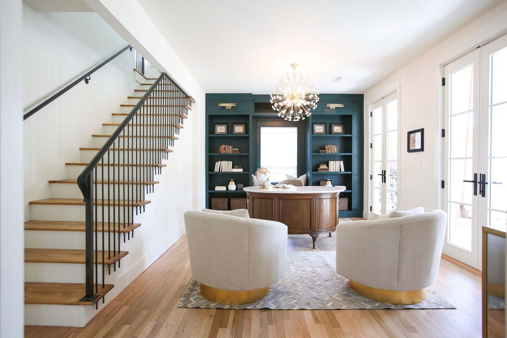 Renovated Home Office on HGTV Fixer to Fabulous.